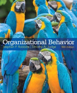 Test Bank for Organizational Behavior, 16/E 16th Edition Stephen P. Robbins, Timothy A. Judge