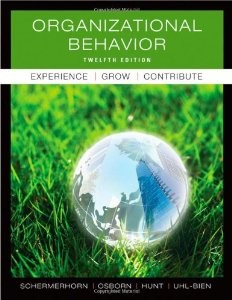 Test Bank for Organizational Behavior, 12 Edition : John R. Schermerhorn