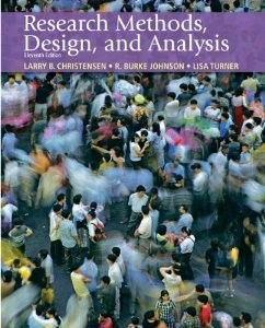 Test Bank for Research Methods Design and Analysis, 11th Edition : Christensen