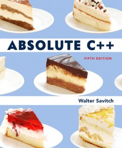 Solution Manual for Absolute C++, 5/E 5th Edition Walter Savitch