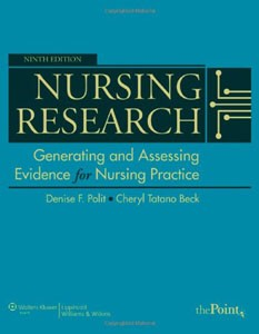 Test Bank For Nursing Research: Generating and Assessing Evidence for Nursing Practice, 9th edition: Denise F. Polit