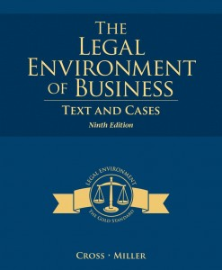 Test Bank for Legal Environment of Business 9th Edition by Cross