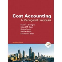 Cost Accounting – A Managerial Emphasis Horngren 13th Edition Test Bank