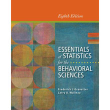 Essentials of Statistics for the Behavioral Sciences Gravetter 8th Edition Solutions Manual