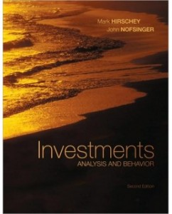 Test Bank for Investments: Analysis and Behavior, 2nd Edition: Mark Hirschey
