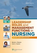 Leadership Roles and Management Functions in Nursing Theory and Application Marquis 8th Edition Test Bank