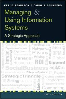 Test Bank for Managing and Using Information System 5th Edition Keri E Pearlson Download