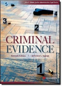 Test Bank for Criminal Evidence 11th Edition Jefferson L Ingram Download