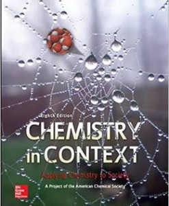 Test Bank for Chemistry in Context 8th Edition American Chemical Society Download