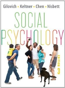 Test Bank for Social Psychology, 3rd Edition : Gilovich