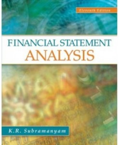 Financial Statement Analysis, 11th Edition Test Bank – K. R. Subramanyam