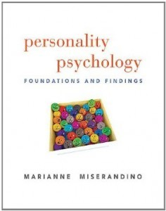 Test Bank for Personality Psychology Foundations and Findings, 1st Edition : Miserandino