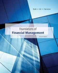 Solution manual for Foundations of Financial Management Block Hirt Danielsen 15th edition