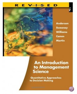 Solution Manual for An Introduction to Management Science Quantitative Approaches to Decision Making 13th Edition by Anderson