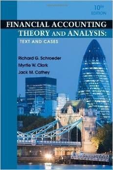 Test Bank For Financial Accounting Theory and Analysis: Text and Cases Tenth (10th) By Richard G. Schroeder, Myrtle W. Clark, Jack M. Cathey