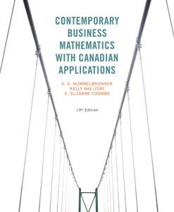 Solution Manual for Contemporary Business Mathematics with Canadian Applications, 10/E 10th Edition S. A. Hummelbrunner, Kelly Halliday, K. Suzanne Coombs