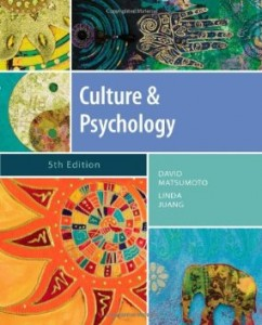 Test Bank for Culture and Psychology, 5th Edition : Matsumoto