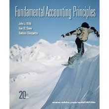 Fundamental Accounting Principles Wild Shaw 20th Edition Test Bank