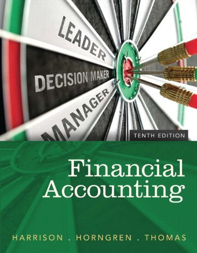 Financial Accounting Harrison 10th Edition Solutions Manual