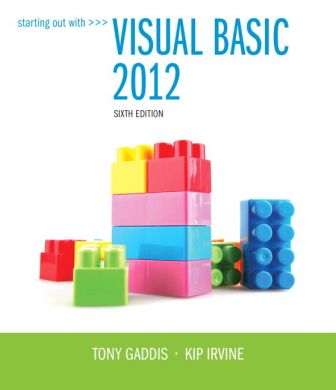 Test Bank for Starting Out With Visual Basic 2012, 6th Edition Gaddis, Irvine
