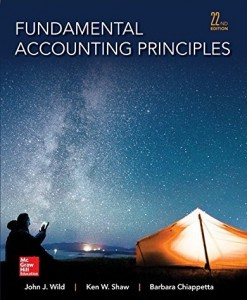 Fundamental Accounting Principles Wild 22nd Edition Solutions Manual
