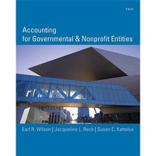 Accounting for Governmental and Non-Profit Entities Wilson 15th Edition Test Bank
