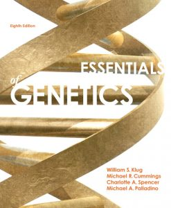 Test Bank for Essentials of Genetics, 8th Edition by Klug