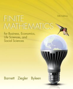 Solution Manual for Finite Mathematics for Business, Economics, Life Sciences and Social Sciences, 13/E 13th Edition