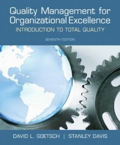 Test bank for Quality Management for Organizational Excellence 7th 013255898x