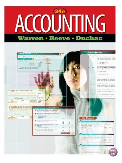 Test Bank for Accounting 24th Edition by Warren