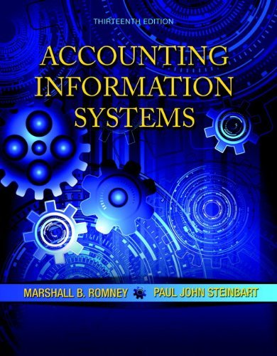 Accounting Information Systems Romney 13th Edition Test Bank