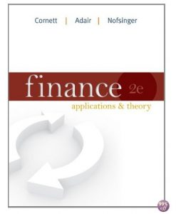 Solution Manual for Finance Applications and Theory 1st Edition by Cornett