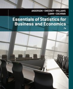 Essentials of Statistics for Business and Economics Anderson 7th Edition Test Bank