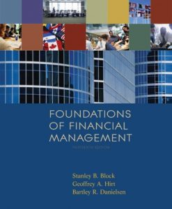 Foundations of Financial Management Block 13th Edition Test Bank