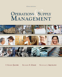 Solution Manual for Operations and Supply Management 12th Edition by Jacobs