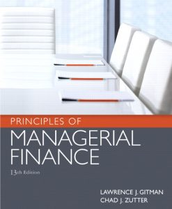 Test Bank for Principles of Managerial Finance 13th Edition by Gitman