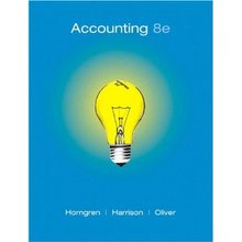 Accounting Horngren 8th Edition Solutions Manual