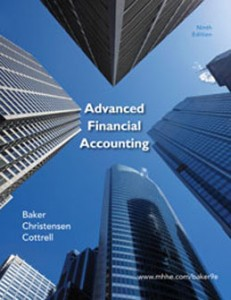 Test Bank for Advanced Financial Accounting, 9th edition: Baker