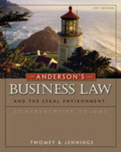 Test Bank for Andersons Business Law and the Legal Environment, 21st Edition: Twomey