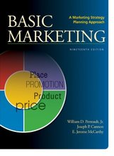 BASIC MARKETING A Marketing Strategy Planning Approach Perreault Jr 19th Edition Test Bank