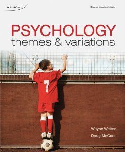 Test Bank for CDN ED Psychology Themes and Variations 2nd Canadian Edition Wayne Weiten