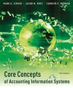 Core Concepts of Accounting Information Systems Simkin 12th Edition Solutions Manual