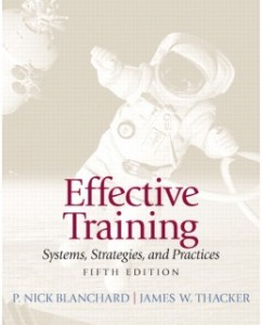 Test Bank for Effective Training, 5th Edition: Nick P. Blanchard
