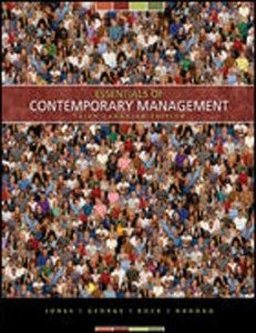 Test Bank for Essentials of Contemporary Management, 3rd Canadian Edition: Hill