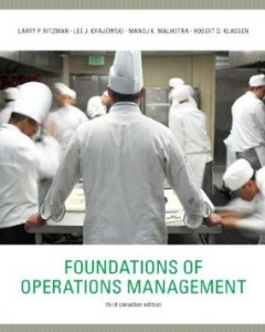 Test Bank for Foundations of Operations Management, 3rd Canadian Edition : Ritzman