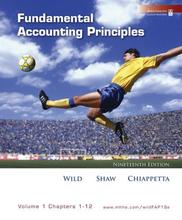 Fundamental Accounting Principles Wild 19th Edition Test Bank