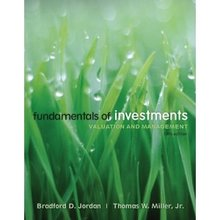 Fundamentals of Investments Jordan 5th Edition Test Bank