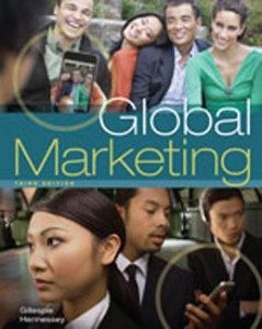 Test Bank for Global Marketing, 3rd Edition: Gillespie