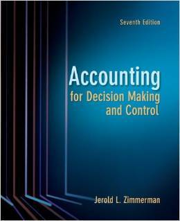Solution Manual For Accounting for Decision Making and Control, 7e Jerold L. Zimmerman