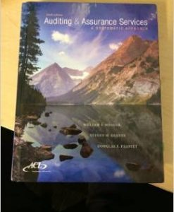 Solution Manual For AUDITING+ASSURANCE SERVICES by William F. Messier , Steven M. Glover , Douglas F. Prawitt edition 9